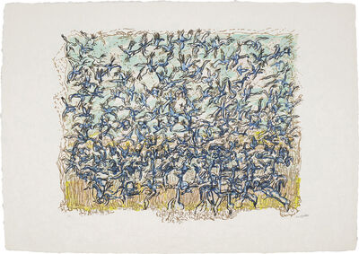 Jean-Paul Riopelle, 'Les Oies bleues (The Blue Geese)', 1981-83