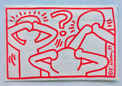 Keith Haring, 'Act Up mailer', 1989