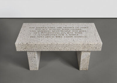Jenny Holzer, 'SELECTION FROM THE LIVING SERIES: YOU SHOULD LIMIT THE NUMBER OF TIMES...', 1989
