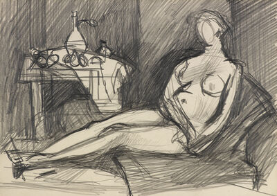 Keith Vaughan, 'Female Nude in Interior', ca. 1950