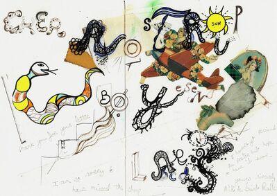 """Niki de Saint Phalle, 'Untitled, """"Cher Lars Rostrup Bøyesen""""'"""