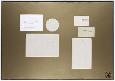 Joëlle Tuerlinckx, 'Planche d'atelier 7/16 - série Pauvres Sujets / gold', 2016