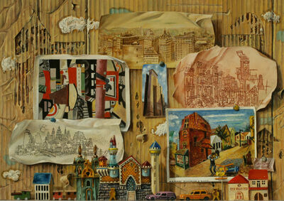 Aaron Bohrod, 'Voice of the City', 1991