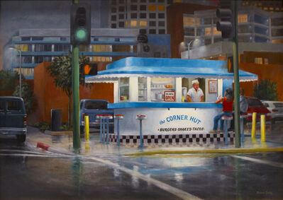 Bruce Cody, 'Corner Conversation, Rainy Night', 2018