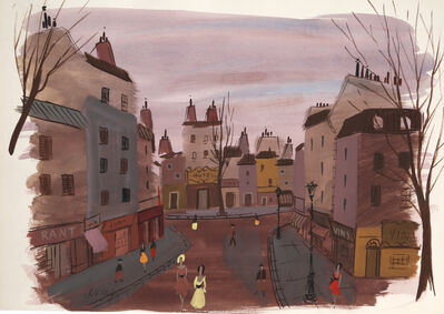 Charles Levier, 'Paris Street Scene', Mid 19th Century