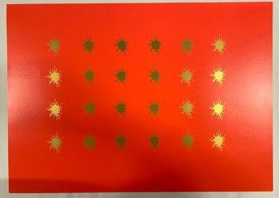John M. Armleder, 'Red & gold stars', 1995