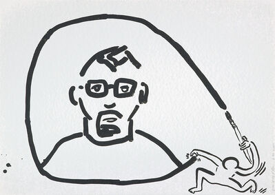 Keith Haring, 'Untitled (Self-Portrait)', 1988