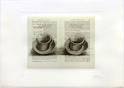 William Kentridge, 'Sleeping on Glass (Panic Picnic)', 1999
