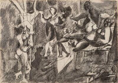 Mariano Rodriguez, 'Bacanal con Perro Negro', 1948