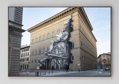 JR, 'La Ferita, 19 Mars 2021, 6h34, Palazzo Strozzi, Florence, Italie, 2021', 2021