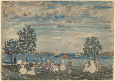 Maurice Brazil Prendergast, 'Figures on a Beach', 1910/1915