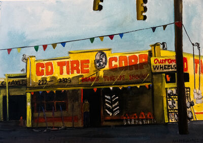 Ana Fernandez, 'CD Tire Shop', 2018