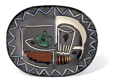 Pablo Picasso, 'Madoura Ceramic Plate- NATURE MORTE, Ramié 219', 1950-1959