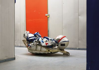 Vincent Fournier, 'SOKOL KV2 Space Suit, KAZBEK seat from a Soyuz rocket, Warehouse, London, United Kingdom, 2009.', 2009