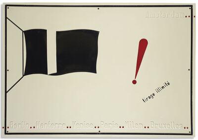 Marcel Broodthaers, 'Tirage illimité, le drapeau noir', 1968