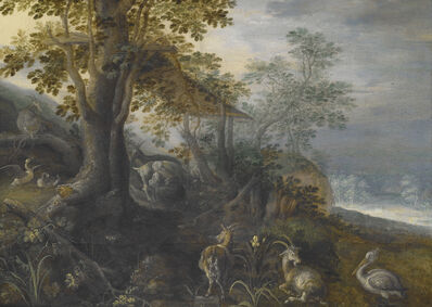 Roelandt Savery, 'Landscape with Animals', ca. 1610