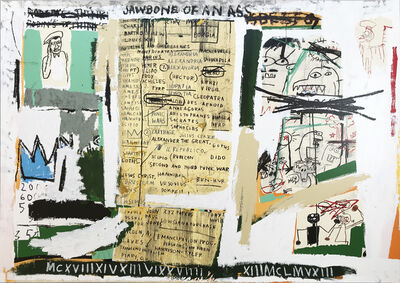 Jean-Michel Basquiat, 'Jawbone of an Ass', 2005