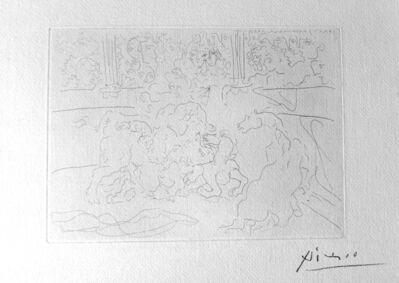 Pablo Picasso, 'Taureau et Chevaux dans l'Arène', 1933