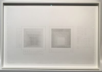 Ken Nicol, 'cluster fuck 100,000 homage to the fuckin' square working drawing', 2016