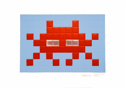 Invader, 'Invasion (Red)', 2009