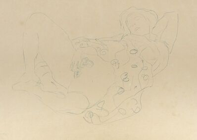 Gustav Klimt, 'Reclining Semi-Nude to the Right', 1912-1913