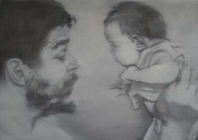 Jose Toirac, 'Che Guevara and his daughter, from the Alma Pater series', 2011