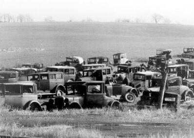 Walker Evans, 'Joe's Auto Graveyard, near Bethlehem, PA', 1936