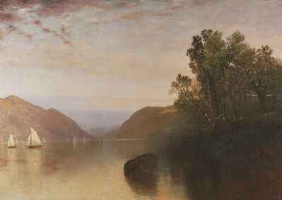 John Frederick Kensett, 'Scene at Lake George', Mid 19th century