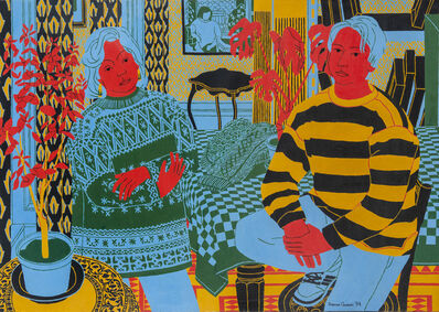 Norman Gilbert, 'Pat in Icelandic Sweater and Mark', 1994