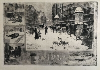Félix Hilaire Buhot, 'L'Hiver a Paris/Winter in Paris', 1879