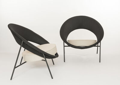Geneviève Dangles and Christian Defrance, 'Pair of armchairs 44 - Saturnes', 1957