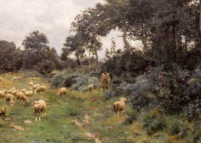 Victor Jean Baptiste Barthélemy Binet, 'Sheep Grazing, ', 1884