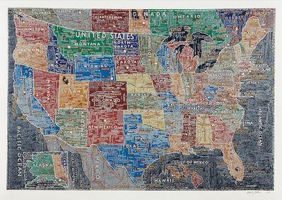 Paula Scher, 'The United States', 2007