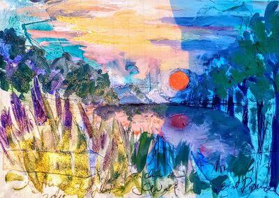 Norma de Saint Picman, 'Water paintings summer 2019 - plein air in situ paintings, Strunjan, sunset 1', 2019