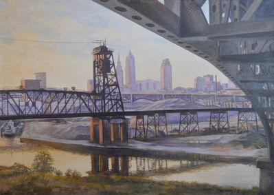 John Troxell, 'Skyline with Bridges'