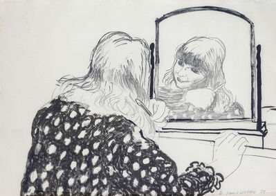 David Hockney, 'Ann Combing Her Hair', 1979
