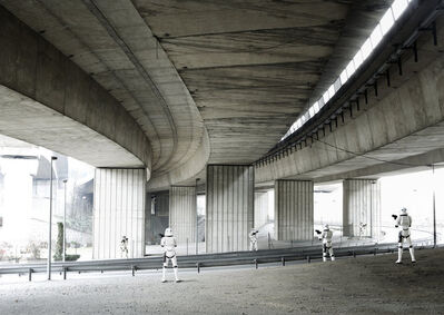 Cédric Delsaux, 'Stormtroopers under Bridge, Paris', 2004