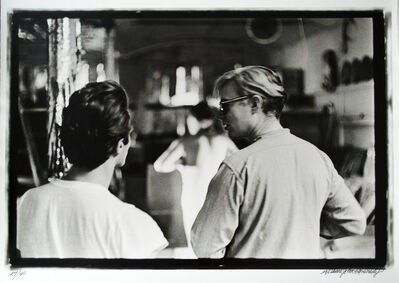 William John Kennedy, 'Andy Warhol with assistant Gerard Malanga filming in the Factory', 1964