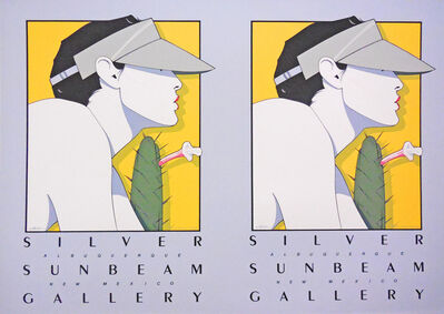 Patrick Nagel, 'Silver Sunbeam Gallery, Albuquerque, New Mexico - Rare Double Print Edition', 1979