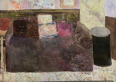 Pierre Lesieur, 'Canapé et coussins violet', 1989