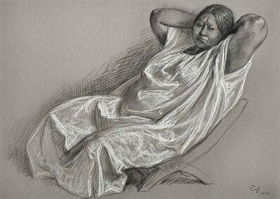 Francisco Zúñiga, 'Mujer sentada con bata', 1979