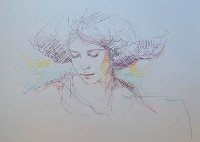 Jose Royo, 'Sketch (Purple)', 21st Century