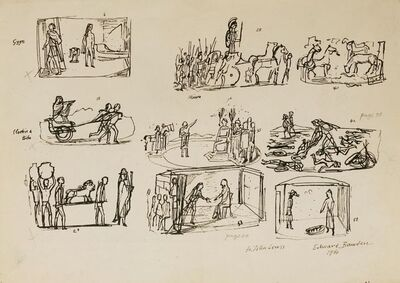 Edward Bawden, 'PRELIMINARY SKETCHES FOR ILLUSTRATION TO 'HISTORIES OF HERODOTUS' (Heritage Press, 1958)'