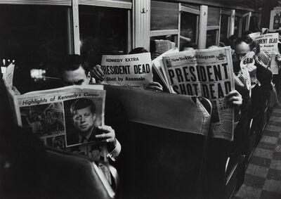 Carl Mydans, 'On the 6:25 from Grand Central to Stamford, November 22', 1963-printed 1992