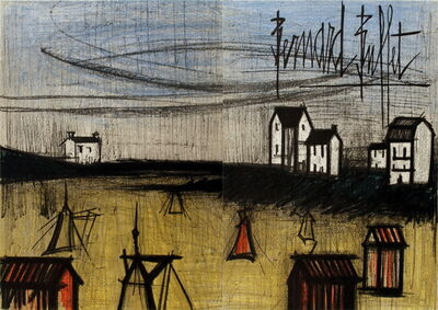 Bernard Buffet, 'The Small Beach (dyptich)', 1966