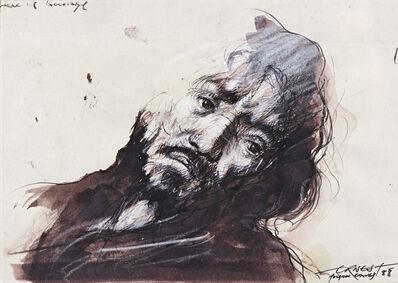 Ernest Pignon-Ernest, 'Etude pour Saint Matthieu de Caravage', 1988