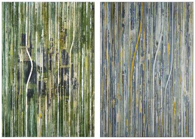 Charles Fine, 'Fieldmarks (0168)-Diptych', 1993