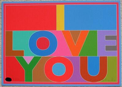 Peter Blake, 'I Love You', 2013
