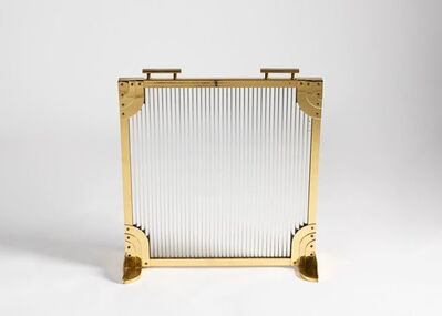 Dennis Abbe, 'Rippled Glass Fire Screen ', ca. United States-circa 1980s