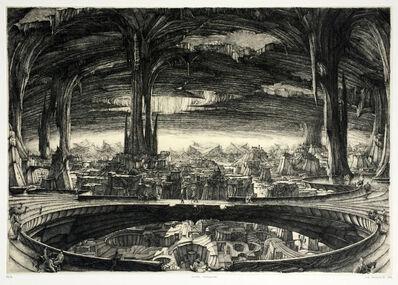 Erik Desmazières, 'Ville souterraine', 1982